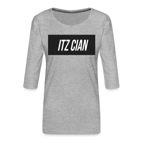 ITZ CIAN RECTANGLE - Women's Premium 3/4-Sleeve T-Shirt