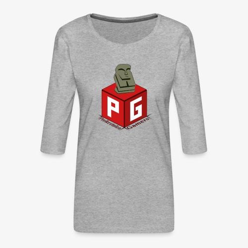 Preikestolen Gamers - Premium T-skjorte med 3/4 erme for kvinner