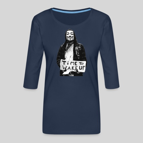 Time to wake up - T-shirt Premium manches 3/4 Femme
