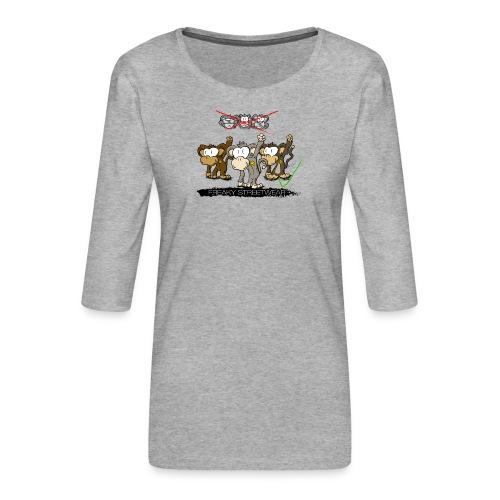 Protest-Äffchen 2 - Frauen Premium 3/4-Arm Shirt