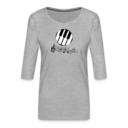 Le piano roulant. - T-shirt Premium manches 3/4 Femme