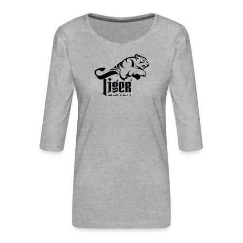 TIGER ZURICH digitaltransfer - Frauen Premium 3/4-Arm Shirt