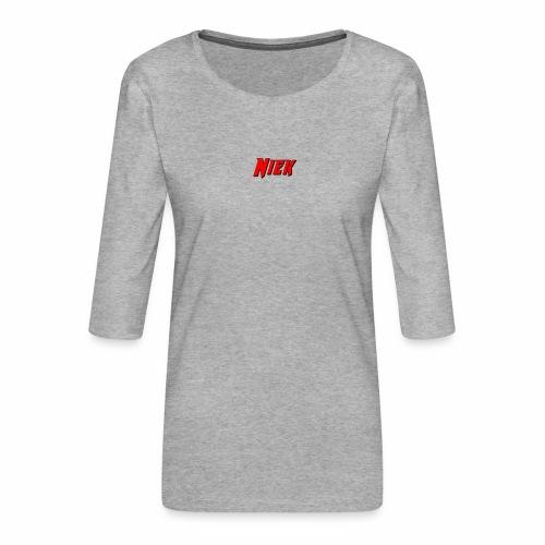 Niek Red - Vrouwen premium shirt 3/4-mouw