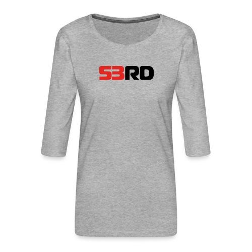 53RD Logo lang (schwarz-rot) - Frauen Premium 3/4-Arm Shirt