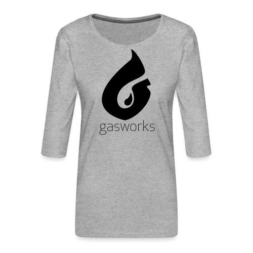 Gasworks Logo Tee - Women's Premium 3/4-Sleeve T-Shirt