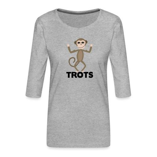 apetrots aapje wat trots is - Vrouwen premium shirt 3/4-mouw