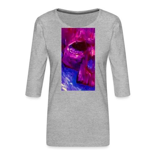 Purple Skull #2 - Vrouwen premium shirt 3/4-mouw
