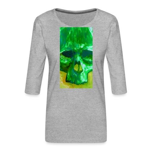 Green Skull - Vrouwen premium shirt 3/4-mouw