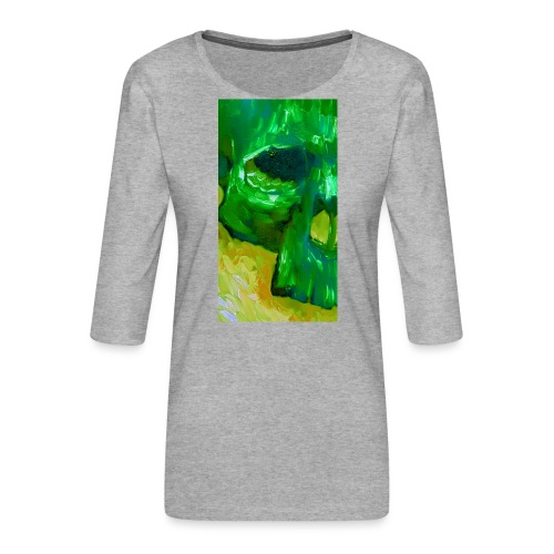 Green Skull #2 - Vrouwen premium shirt 3/4-mouw