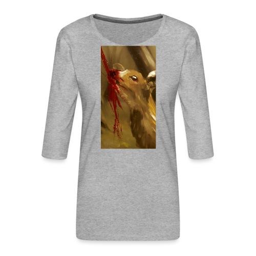 Shot? - Vrouwen premium shirt 3/4-mouw