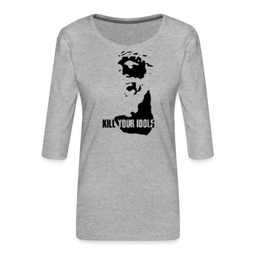 Kill your idols - Women's Premium 3/4-Sleeve T-Shirt
