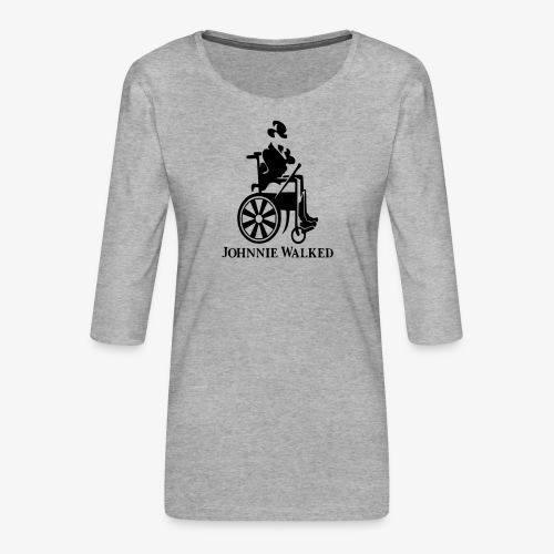 Voor rolstoel gebruikers die van Whisky houden - Vrouwen premium shirt 3/4-mouw