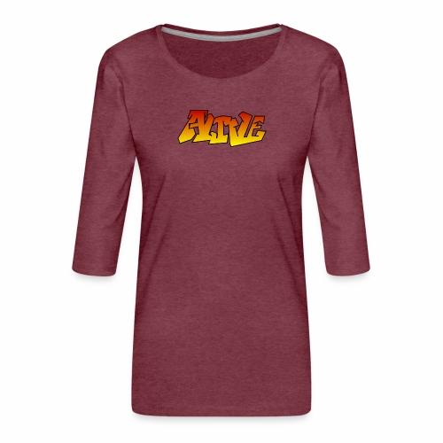 ALIVE CGI - Women's Premium 3/4-Sleeve T-Shirt