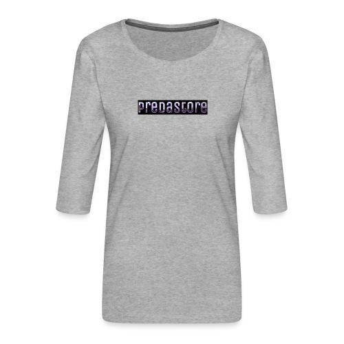 PredaStore Original Logo Design - Women's Premium 3/4-Sleeve T-Shirt
