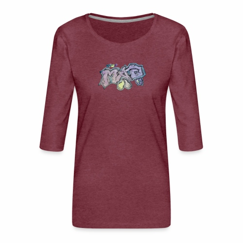 Life Is Mad TM Collaboration - Women's Premium 3/4-Sleeve T-Shirt