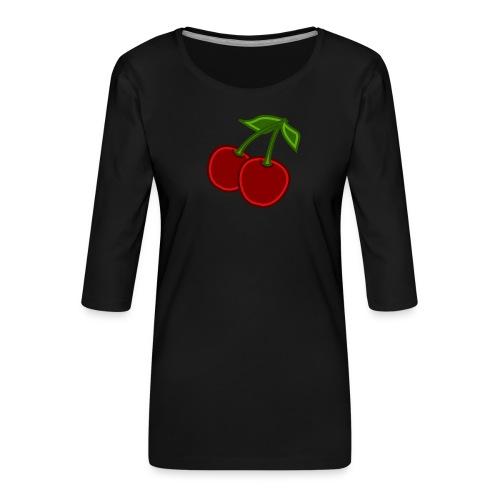 cherry - Koszulka damska Premium z rękawem 3/4