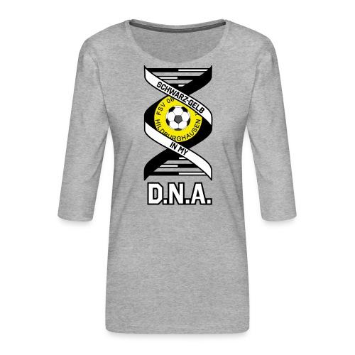 Hildburghausen FSV 06 - IN MY D.N.A. (weiss) - Frauen Premium 3/4-Arm Shirt