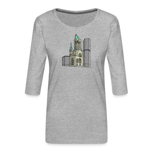 Gedächtniskirche BERLIN - Koszulka damska Premium z rękawem 3/4