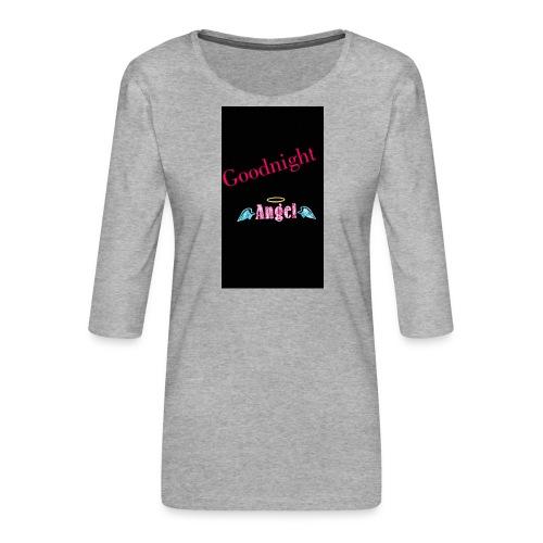 goodnight Angel Snapchat - Women's Premium 3/4-Sleeve T-Shirt
