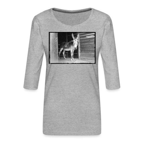 Zickenstube Esel - Frauen Premium 3/4-Arm Shirt