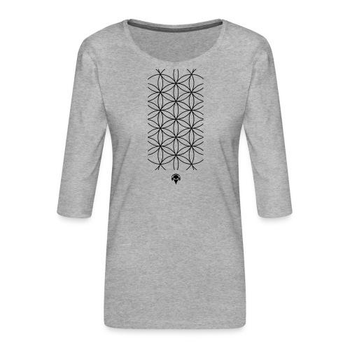 Deritorisada - Die Blume des Anfangs - Frauen Premium 3/4-Arm Shirt