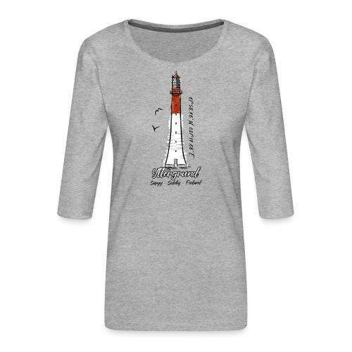 Yttergrundin majakka, Siipyy, tekstiilit ja lahjat - Naisten premium 3/4-hihainen paita