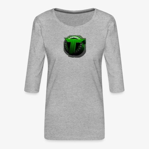 TEDS MERCHENDISE - Premium T-skjorte med 3/4 erme for kvinner