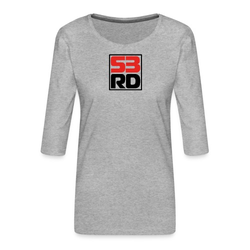53RD Logo kompakt umrandet (schwarz-rot) - Frauen Premium 3/4-Arm Shirt
