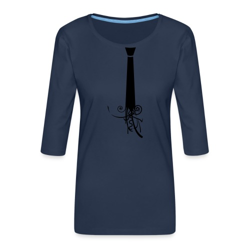 Krawatte - Frauen Premium 3/4-Arm Shirt