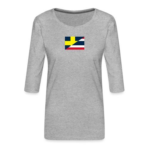 Sverige Thailand - Premium-T-shirt med 3/4-ärm dam