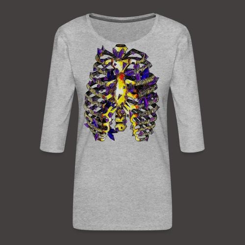 La Cage Thoracique de Cristal Creepy - T-shirt Premium manches 3/4 Femme