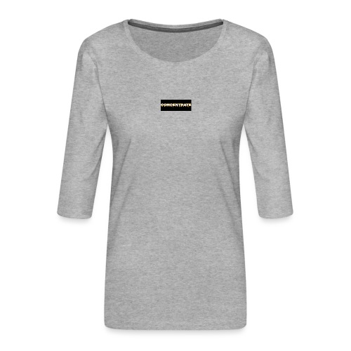 Concentrate on black - Women's Premium 3/4-Sleeve T-Shirt
