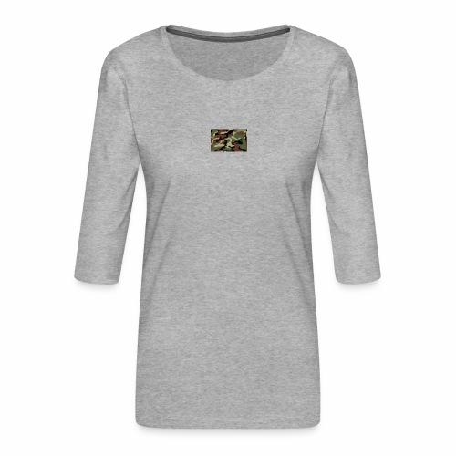 camu - Camiseta premium de manga 3/4 para mujer