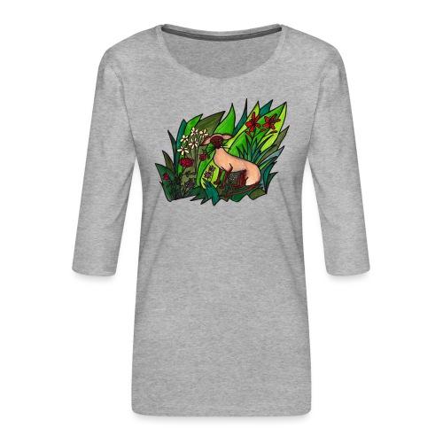 Funtes trädgård - Premium-T-shirt med 3/4-ärm dam