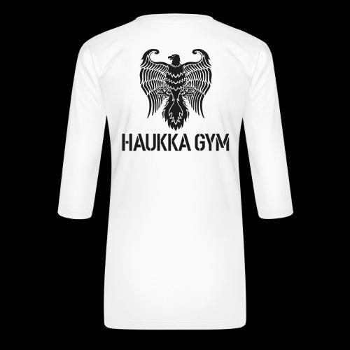 HAUKKA GYM LOGO - Naisten premium 3/4-hihainen paita