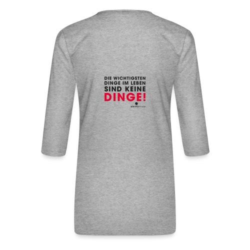 Motiv DINGE schwarze Schrift - Frauen Premium 3/4-Arm Shirt