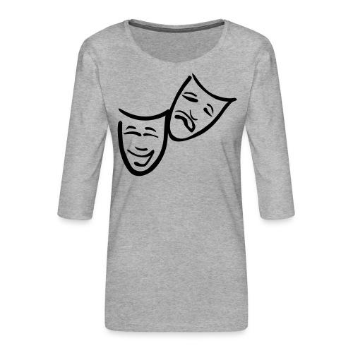 Theatermasken - Frauen Premium 3/4-Arm Shirt
