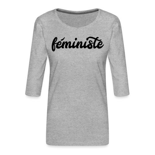 féministe - T-shirt Premium manches 3/4 Femme