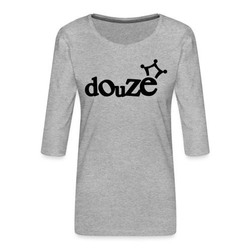 logo_douze - T-shirt Premium manches 3/4 Femme