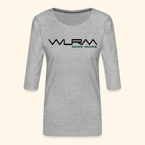 WLRM Schriftzug black png - Frauen Premium 3/4-Arm Shirt