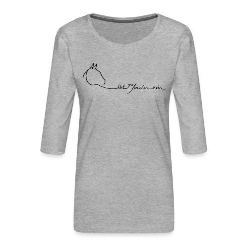 MPS Logoschriftzug gr offizieller Logoschriftzug - Frauen Premium 3/4-Arm Shirt