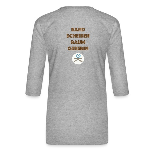 BandscheibenraumgeberIN - Frauen Premium 3/4-Arm Shirt