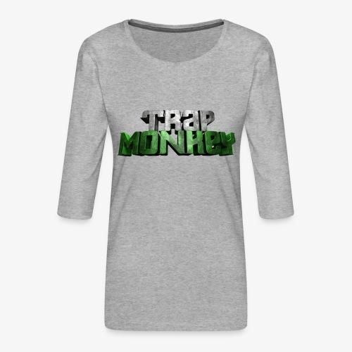Trap Monkey 2 - T-shirt Premium manches 3/4 Femme