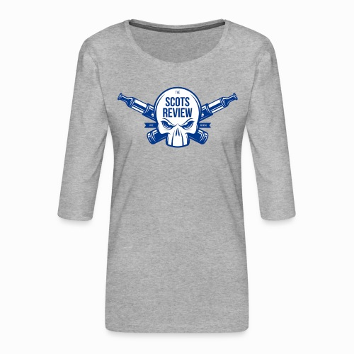 The Scots Review Classic Logo - Women's Premium 3/4-Sleeve T-Shirt