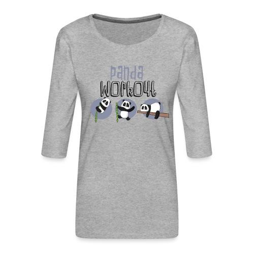 Panda Workout Fitness für Genießer und Faulenzer - Frauen Premium 3/4-Arm Shirt