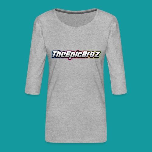 TheEpicBroz - Vrouwen premium shirt 3/4-mouw