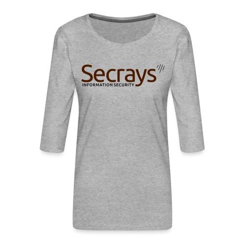 Secrays vektori logo - Naisten premium 3/4-hihainen paita