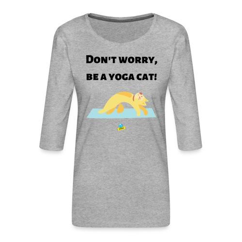 Yoga cat! - Maglietta da donna premium con manica a 3/4