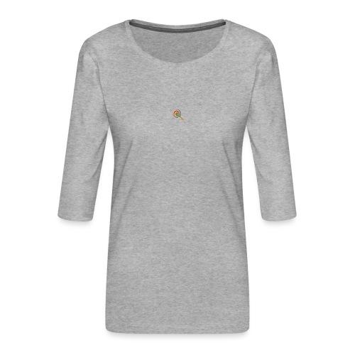 lolly_emoji - Vrouwen premium shirt 3/4-mouw