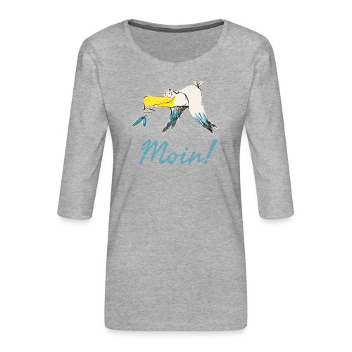 Lustige Moin Möwe von Volker Ernsting - Frauen Premium 3/4-Arm Shirt